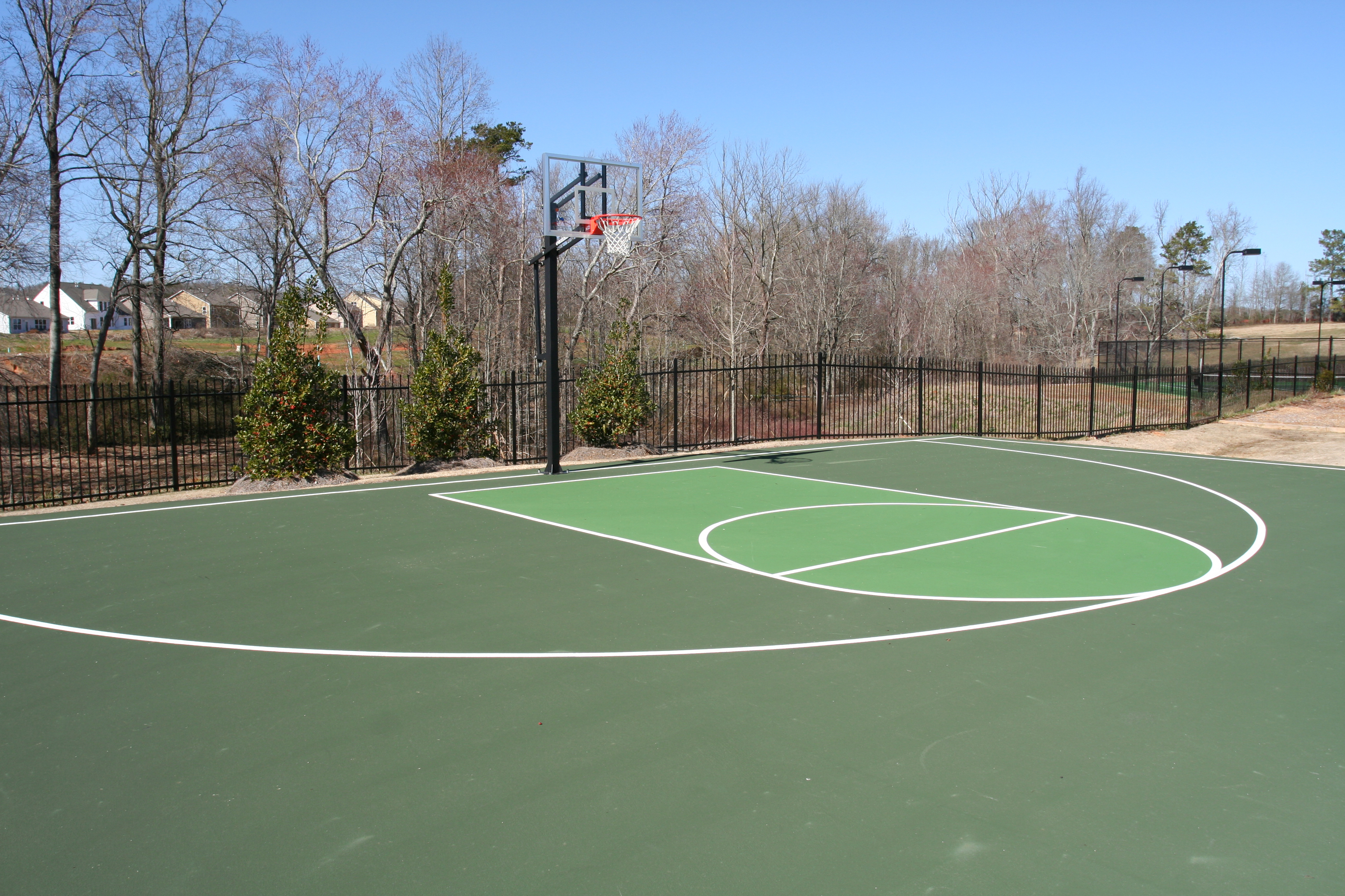 Sports court line striping atlanta ga curry seal n stripe for Sport court
